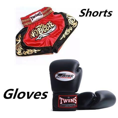 Thai Boxing Gloves 1pair 1pc muay thai shorts boxing s sport clothes 1pair punching boxing gloves