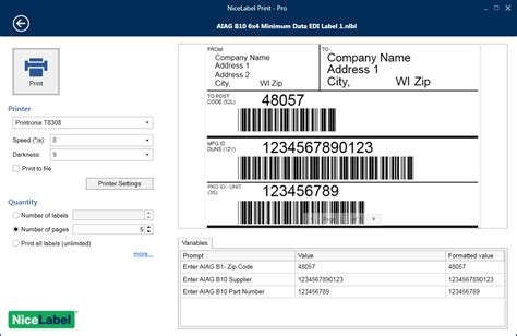 Label Sato nicelabel label design software sato america