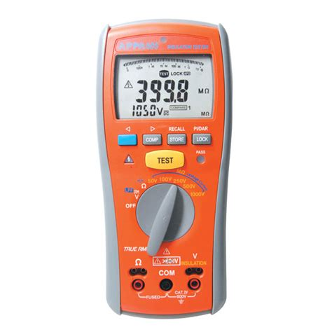 Multimeter Appa appa 600 series insulation tester and multimeter appa 605 appa technology corporation