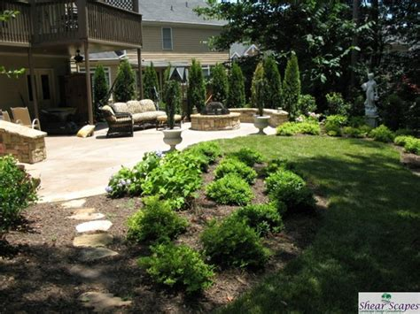 landscaping ideas around patio patio landscaping duluth ga