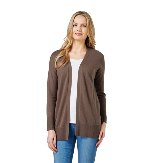 Top Five Cardigans by Woolovers Womens Sleeve And Cotton Edge To