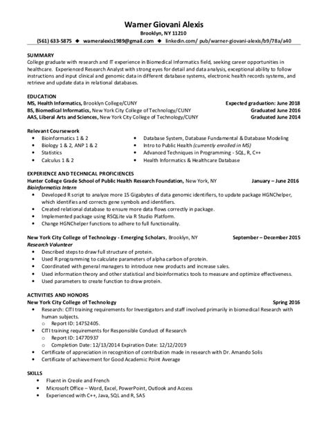 Informatics Resume Warner Giovani Informatics Resume 10 20 16