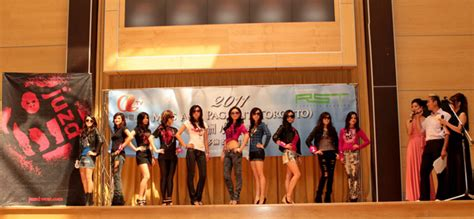 asia pageant contestants strut  runway  juzd