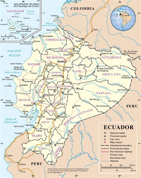 Printable Road Map Of Ecuador | ecuador map free colouring pages