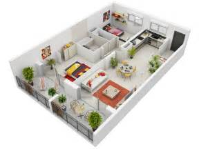 3d home plans 2 bedroom apartment house plans