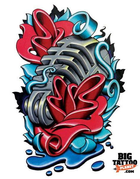 new school tattoo flash art image gallery new school tattoo art