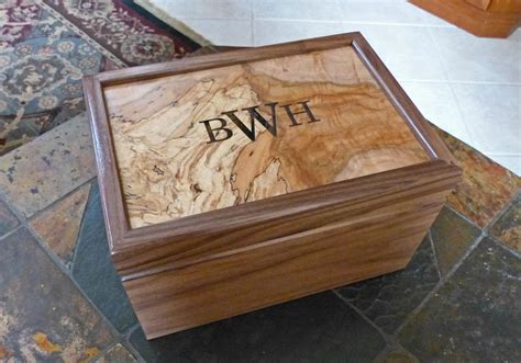 Handcrafted Humidors - crafted custom humidor walnut spalted maple by