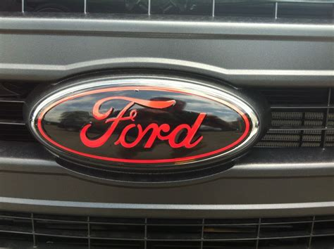 Ford F150 Emblems by Front And Rear Oval Emblem Sticker Decal Overlays Fits