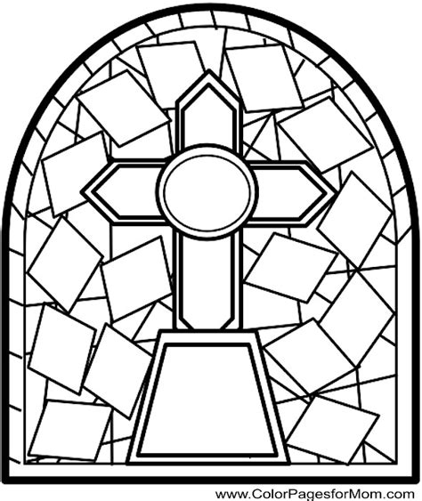 advanced coloring pages stained glass coloring page 16