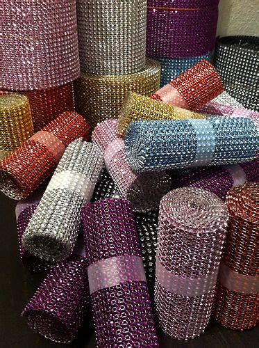 diamond supply co home decor diamond rhinestone ribbon mesh wrap wedding home