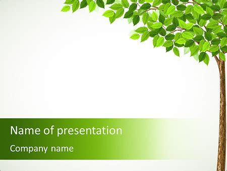 tree drawing powerpoint template backgrounds id