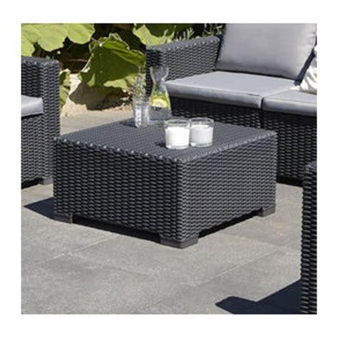 grey rattan outdoor furniture allibert california graphite grey outdoor rattan garden square coffee table ebay