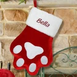 Personalized christmas stockings pet christmas stockings paw