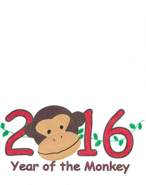 new year 2018 monkey 2018 monkey new year printable festival collections