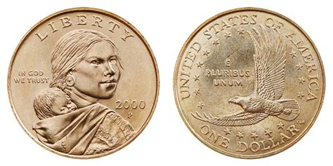 2000 p sacagawea dollars golden dollar value and prices