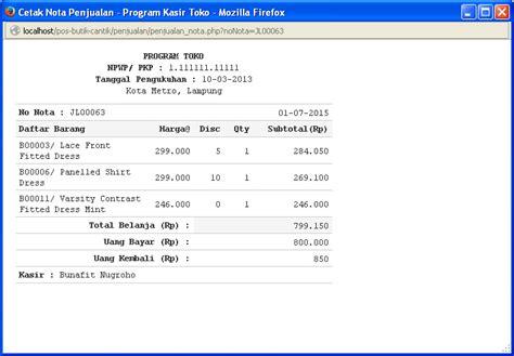 membuat website penjualan dengan html contoh aplikasi penjualan menggunakan php bunafit komputer