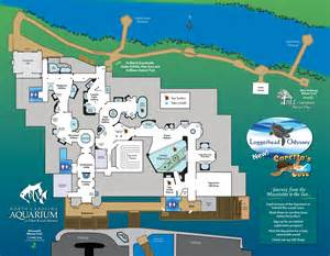 aquarium map pine knoll shores map