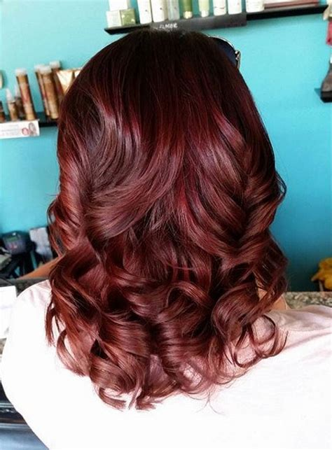 cherry chocolate hair red hair color inspiration