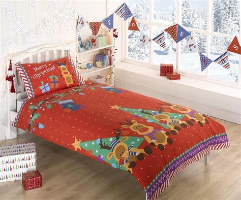 kids christmas bedding christmas single double duvet range xmas kids childrens bedding ebay