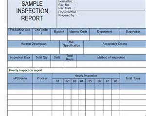 Inspection Report Template by Get Inspection Report Template Sle Microsoft Project