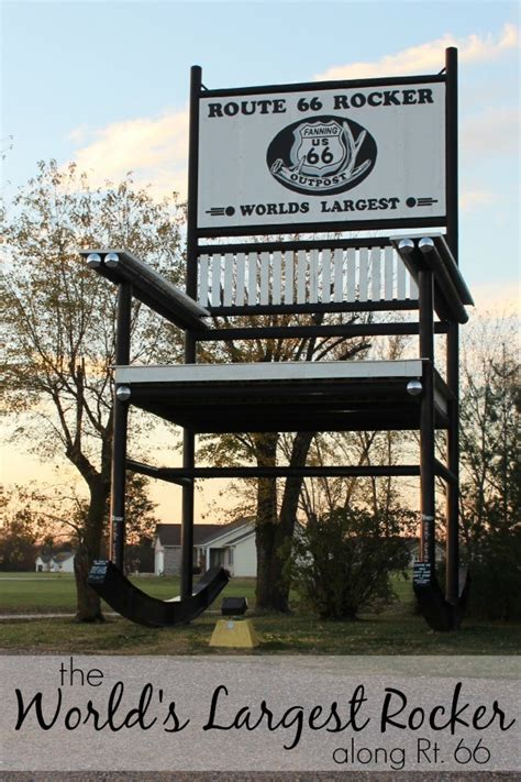Worlds Largest Rocking Chair by The World S Largest Rocking Chair Along Historic Route 66