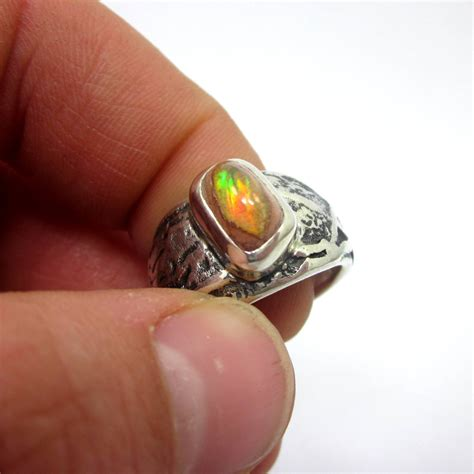 opal ring opal jewelry unique ring s by leviathanjewelry