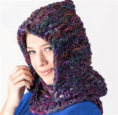how to knit a hooded cowl amethyst falls hooded cowl 171 kb looms