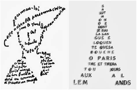 poems with a pattern year 1 futurism architecture apollinaire paula scher group