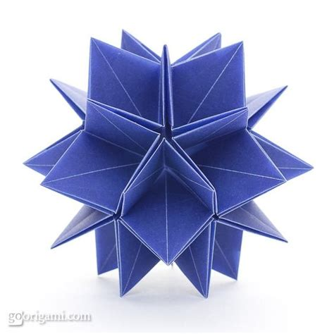 David Mitchell Origami - 30 point sunken by david brill diagrams in