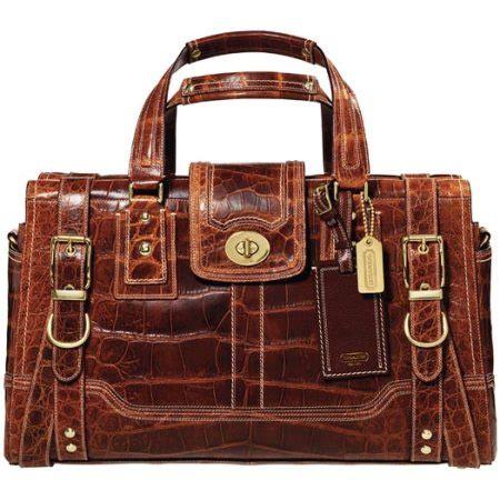 Coach Miranda Alligator Satchel elite handbag htons and miranda alligator
