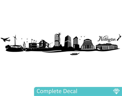 Train Wall Mural wellington city silhouette your decal shop nz designer