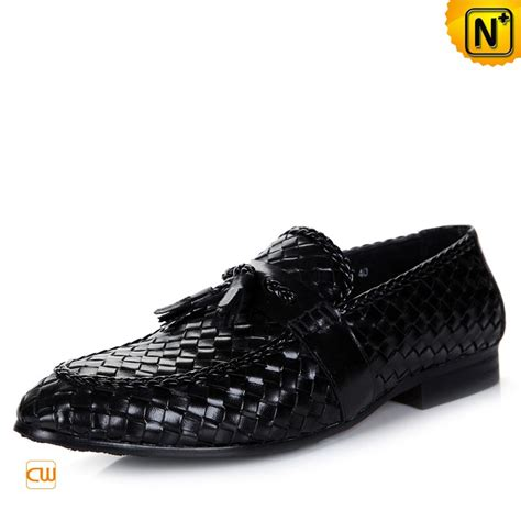 mens woven loafers black woven tassel loafers for cw750067