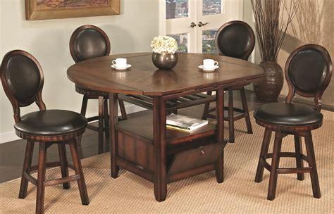 pub table with storage u s furniture inc 2251 2252 5 piece round top storage pub