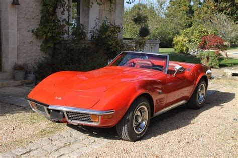 cars for sale in france 1970 corvette stingray convertible in france for sale