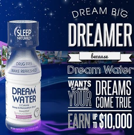 Submit Sweepstakes Free - free 4 pack of dream water video submission and 10k sweepstakes sweetfreestuff com