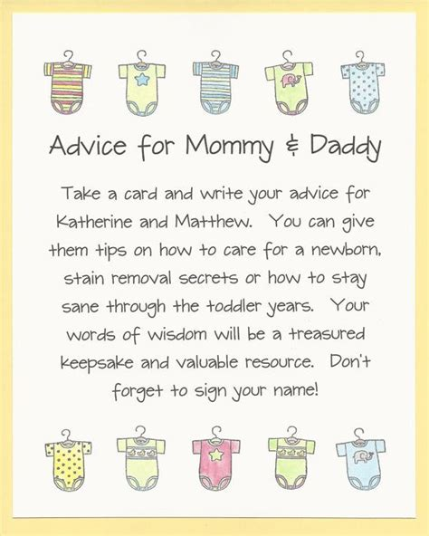 free printable baby shower advice best wishes cards 25 best ideas about baby shower advice on pinterest