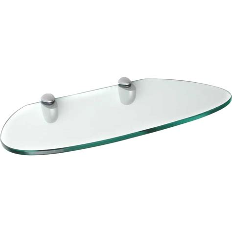Floating Shelf Glass by Floating Shelf Kidney Shaped Glass In Wall Mounted Shelves