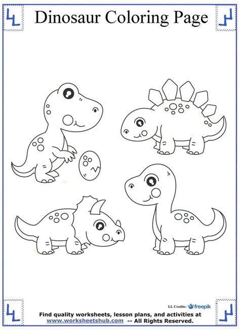 baby dinosaurs coloring page dinosaur coloring pages