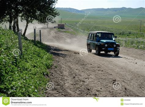 Driving Jeep Jeep Driving On The Road Royalty Free Stock Photos Image