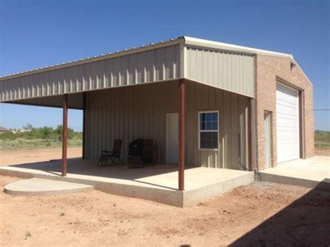patio shop amarillo shop with patio and brick facing custom barns and construction