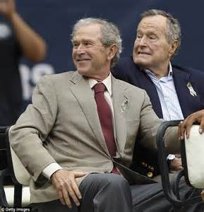 President Who Died In A Bathtub George W Bush Unveils Painting Of Himself Alongside Father