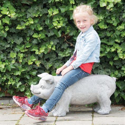 banco de piedra para jardin esschert design banco de piedra para jard 237 n cerdo gris