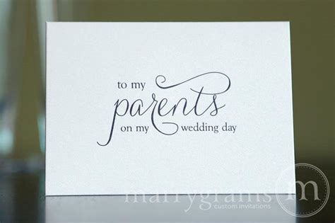 Groom Gift Card - wedding card to your mother or father parents of the bride or groom cards parent