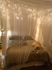 Homemade canopy bed curtains