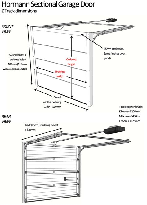 How To Measure A Garage Door by Sectional Garage Door Measurement