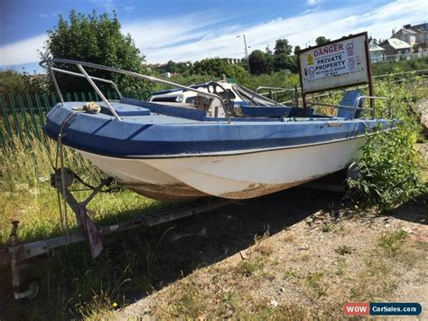 trailer fishing boats for sale uk 17ft wilson flyer dory 50hp evinrude electric start no