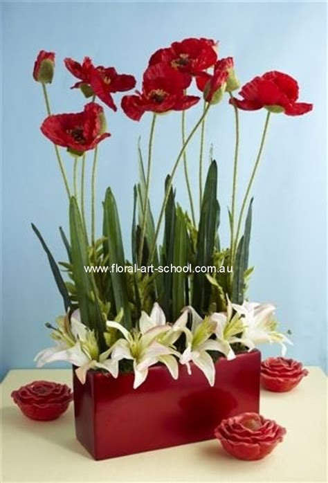 modern silk flower arrangement floral arrangement white
