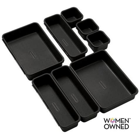 madesmart drawer organizer walmart made smart bin pack 8 piece office walmart