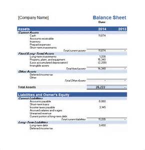 Balance Sheet Template Excel by Sle Financial Plan 9 Documents In Pdf Word Excel