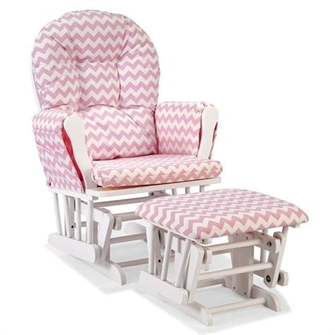 pink glider and ottoman custom glider and ottoman in white and pink 06550 6121
